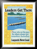 Leaders Get There Framed Giclee Print