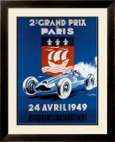 Grand Prix de Paris, 24 Avril 1949 Framed Giclee Print by Geo Ham