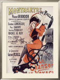 Montmartre en Ballade, La Chanson Framed Giclee Print by Alfred Choubrac