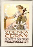 Zdenka Cerny Cello Concert Framed Giclee Print by Alphonse Mucha