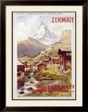 Swiss Alps, Zermatt Matterhorn Framed Giclee Print by Anton Reckziegel