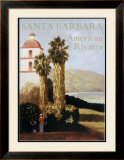 Santa Barbara American Riviera Framed Giclee Print