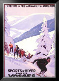 Sports d'Hiver dans les Vosges Framed Giclee Print by Roger Broders