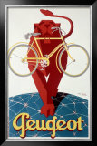 Peugeot Lion Bicycle Framed Giclee Print