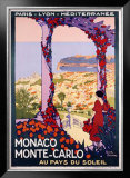 Monaco, Monte-Carlo Framed Giclee Print by Roger Broders