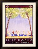 Cote d'Azur Framed Giclee Print by Jean-Gabriel Domergue