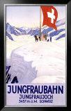 Jungfraubahn Framed Giclee Print by Emil Cardinaux
