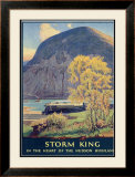 Storm King, New York Central Lines Framed Giclee Print by Walter L. Greene