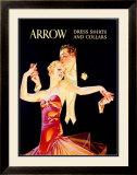 Arrow Dress Shirts and Collars Framed Giclee Print by Joseph Christian Leyendecker