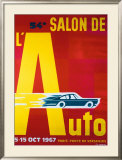 54e Salon de l'Automobile Framed Giclee Print by Pierre Fix-Masseau