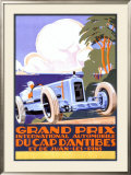 Grand Prix d'Antibes Framed Giclee Print by Alexis Kow