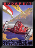 Hungarian Grand Prix Framed Giclee Print by Emil Gerster