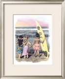 Surf Keikis Framed Giclee Print by  Himani