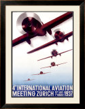 4th International Aviation Meeting, Zurich Framed Giclee Print by Otto Baumberger