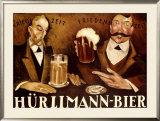 Hurlimann Bier Framed Giclee Print