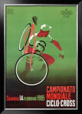 Campionato Mondiale, Ciclo, 1965 Framed Giclee Print by  Mancioli