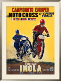 Moto Club Imola Motocross Framed Giclee Print by Pozzi