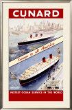 Cunard Ocean Liner Framed Giclee Print