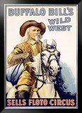 Buffalo Bill's Wild West, Sells Floto Circus Framed Giclee Print