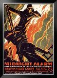 FDNY Midnight Alarm Framed Giclee Print by Manuel Delosas