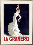 La Granero Flamenco Dance Framed Giclee Print by Paul Colin