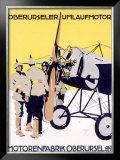 WWI, German Oberursel Aircraft Aviation Framed Giclee Print