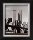World Trade Center and Brooklyn Bridge Art by Walter Gritsik