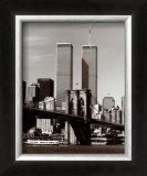 World Trade Center and Brooklyn Bridge Art by Walter Gritsik