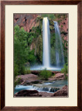 Havasupai Falls, Grand Canyon Framed Giclee Print by Jon Cox