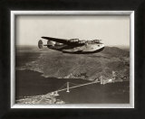 Boeing B-314 over San Francisco Bay, California 1939 Art by Clyde Sunderland