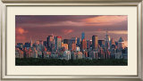 Sunset over New York Skyline Art by Hank Gans