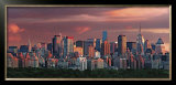 Sunset over New York Skyline Posters by Hank Gans