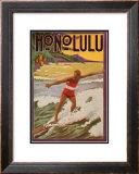 Surfing Honolulu Prints
