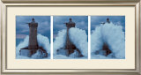 Phare du Four Dans la Vague Prints by Jean Guichard