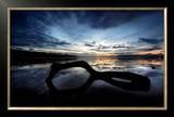 Beach Reflection Print by Marina Cano