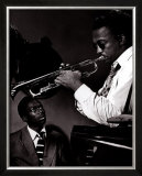 Howard McGhee and Miles Davis Print by William P. Gottlieb