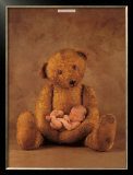 Campbell with Bear Poster by Anne Geddes