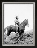 Young Yakima on Horseback Framed Giclee Print by Edward S. Curtis