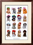Puppies with Hats Print by Keith Kimberlin