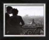 Les Amoureux de la Bastille, c.1957 Print by Willy Ronis