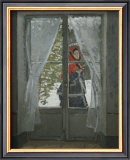The Red Kerchief: Portrait of Mrs. Monet, c.1868-1878 Prints by Claude Monet