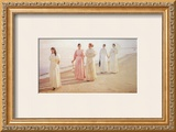 Promenade on the Beach Prints by Michael Peter Ancher