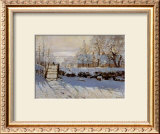 La Pie, Effet de Neige Art by Claude Monet