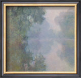 The Seine at Giverny, Morning Mists, 1897 Art by Claude Monet