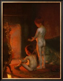 After the Bath, 1890 Posters by Paul Peel