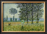 Field in Spring Posters by Claude Monet