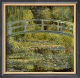 Estanque de nenúfares y puente Posters por Claude Monet