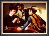 The Cardsharps Prints by Caravaggio