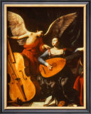 St. Cecilia and the Angel Print by Carlo Saraceni