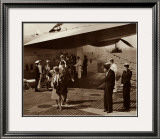 Boeing B-314, Passengers Arrive at La Gaurdia, 1939 Prints by Clyde Sunderland